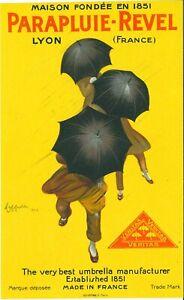 ORIGINAL VINTAGE Lithograph PARAPLUIE REVEL poster Leonetto Cappiello 1922