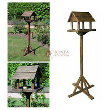Traditional Premium Wooden Bird Table Feeder Station House Nesting Tripod Base