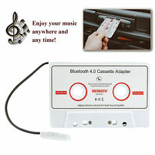 Bluetooth 4.0 Aux Car Music Audio Receiver Cassette Mp3 Player Adapter White