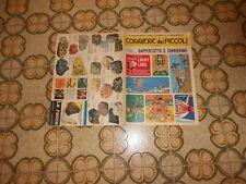 CORRIERE DEI PICCOLI NR  33 1967  con inserto corrierino estate  e figurine auto