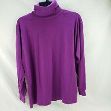 Women Purple Long Sleeve Turtleneck Top Size 38, Large New by Kobe