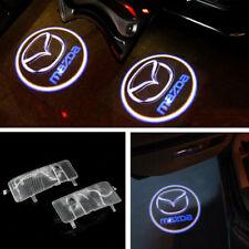 2x Led Door Light Projector For MAZDA 6 Logo Emblem Welcome Courtesy Laser Lamp