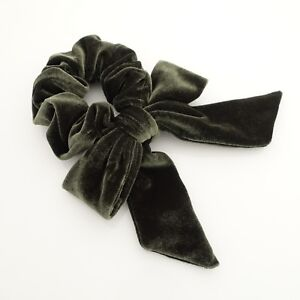velvet bow knot scrunchies falling tail hair tie scrunchy hair accessories