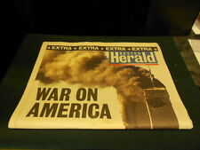 BOSTON HERALD SEPTEMBER 11 2001 WAR ON AMERICA EXTRA EXTRA VERY RARE