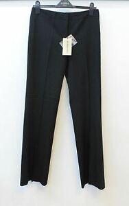 BURBERRY Ladies Norwich Black Zip Fly Stretch Wool Blend Trousers UK6 EU38 BNWT