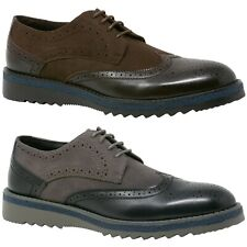 """Alpine Swiss Alec Mens Wingtip Shoes 1.5"""" Ripple Sole Leather Insole & Lining"""