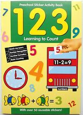 Preschool Sticker Activity Book 123 Learning to Count with over 50 stickers