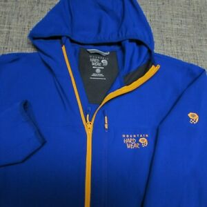 MOUNTAIN HARDWEAR HOODED POLY SPANDEX JACKET--L--EXCEPTIONAL LOOK & QUALITY!!