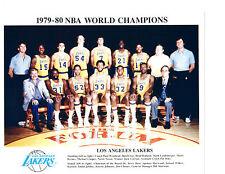 1979 1980 NBA WORLD CHAMPIONS LOS ANGELES LAKERS TEAM  PHOTO HOF BASKETBALL