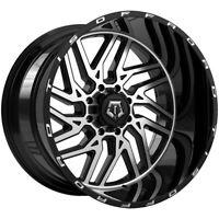 "4-TIS 544MB 20x12 8x6.5"" -44mm Black/Machined Wheels Rims 20"" Inch"