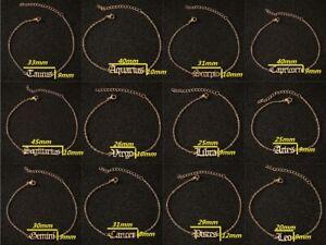 12 Constellation Anklet Stainless Steel Women Men's Leg Chain Ankle Bracelets