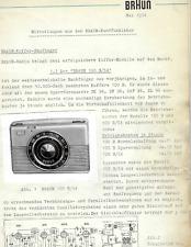Braun Original Service Manual Beschreibung Exporter 100 B/54