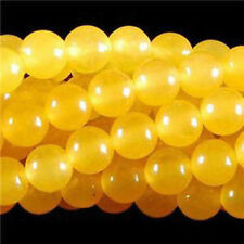 "Yello 4mm Smooth Natural Round Jade Jewelry Making Loose Gemstone Beads 15"" Gift"