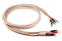 Pair 12TC Hifi Speaker Cable Pure Copper cable with Banana Jacks to Spade Y Plug