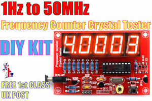 1Hz-50MHz Crystal Oscillator Frequency Counter Meter Tester DIY LED DISPLAY KIT