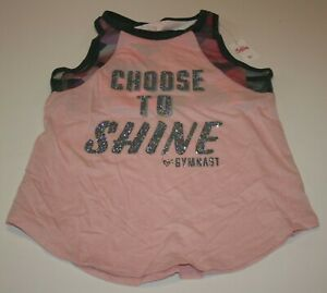 New Justice Girls Tank Top 16 Year Active Glitter Attached Bra Choose To Shine