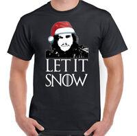 Christmas Let It Snow Mens Funny Game Of Thrones Inspired T-Shirt Jon GOT TV