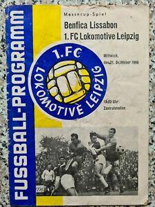 Programm EC 1966 1.FC Lok Leipzig vs. Benfica Lissabon