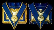 More details for masonic regalia-london grand rank (lgr) dress/undress apron & collar + gloves