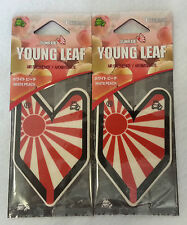 2 JDM Wakaba Treefrog Young Leaf Japanese Air Freshener White Peach Scent