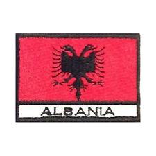 [Patch] BANDIERA ALBANIA cm 7 x 5 toppa ricamata ricamo ALBANIA -365