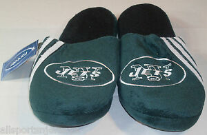 NFL New York Jets Stripe Logo Slide Slippers Size Men Small by FOCO