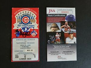 Ryne Sandberg signed 1990 baseball All-Star game ticket stub - Jsa authenticated