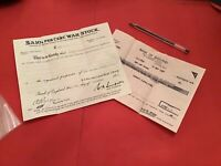 War Stock Bank of England London 1954 Certificate and receipt R36601