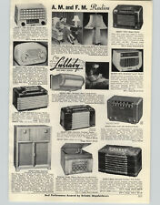 1950 PAPER AD Mitchell Lumitone Table Lamp Radio Setchell Carlson DeWald Tee Nee