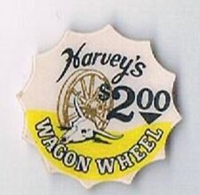 Harvey's Hotel $2.00 Casino Chip Inlay/Center Only Wagon Wheel Lake Tahoe