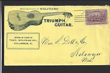 "COLUMBUS,OHIO 1893,#231 COLUMBIAN COVER, ADVT , ""TRIUMPH GUITAR"".THEO.WOLFRAM CO"