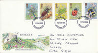 12 MARCH 1985 BRITISH INSECTS ROYAL MAIL FIRST DAY COVER BROMLEY KENT FDI