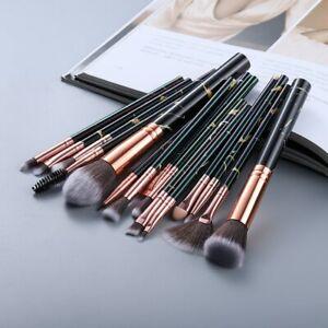 FLD5/15Pcs Makeup Brushes Tool Set Cosmetic Powder Eye Shadow Foundation Blush B