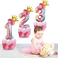 32Pouces Gradient Numérique Couronne Ballon Fête D'anniversaire Ballon Aluminium