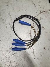 2 AWG #2 Soft Siamese 6' Molded Cam Lok Y-Split Threefer 1 Male to 3 Fem Blue