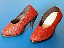 *RED GLITTER* shoes HIGH HEELS for doll SD BJD 10/13 girl **Schuhe Pumps**