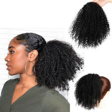 Sexy Synthetic Curly Ponytail Afro Kinky Hair Drawstring Ponytail Puff Wigs USA