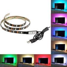 Striscia strip led RGB USB 5V adesiva retroilluminazione TV 2mt telecomando