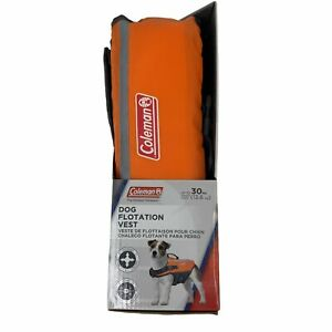Coleman Up To 30 lbs Dog Flotation Vest High Visibility Stable Life Jacket New