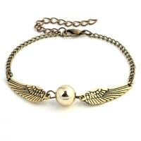 Harry Potter Golden Snitch Quidditch Bracelet Charm Hogwarts Jewellery Gift Idea
