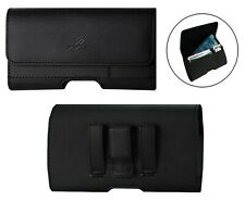Leather Belt Clip Card Slot Holster for Phones Fitted with Mophie Pack Cover