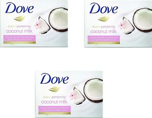 Dove Coconut Oil Beauty Bar Soap 100 g (Pack of 8)