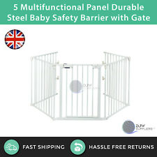 5 Multifunctional Panel Durable Steel Baby Safety Barrier with Gate