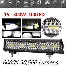 Waterproof 15 Inch Flood Spot Combo 300W LED Light Bar Fog Light Work Light 1PCS
