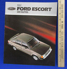 Vintage 1982 Ford Escort Models Car Dealer Sales Brochure Information Booklet