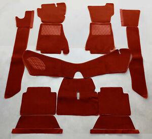 Dark red velours carpet set / kit for Alfa Romeo Montreal