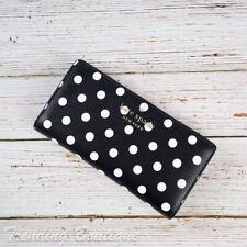 NWT Kate Spade Staci Dot Dot Dot Large Slim Bifold Wallet in Black Multi