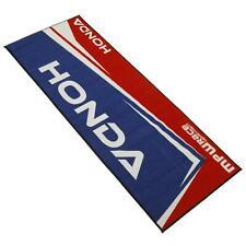 MPW Race Dept Non-slip 200x75cm Motorcycle Garage Workshop Mat Honda Red/Blue