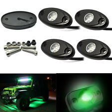 4x Green CREE LED Rock Light JEEP Offroad Truck Boat Under Body Trail Rig Light