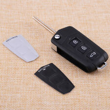 3 Buttons + Panic Flip Key Blank Refit Fob Fit For HYUNDAI Sonata Genesis Coupe